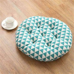 Cotton Cushion Increase Thickening Tatami Round Chair Cushion Student Pad Sofa Office Bedroom Home Decoration Round Futon Exquisite Traditional Embroidery Art Baby Furniture