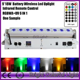 $enCountryForm.capitalKeyWord Australia - Rechargeable Battery operated Wireless DMX led Wall washer 9x18W RGBWA UV LED events uplight 9*18watt with infrared controller