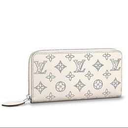 Cotton Key Australia - M61869 ZIPPY WALLET Perforated pattern white Real Caviar Lambskin Chain Flap Bag LONG CHAIN WALLETS KEY CARD HOLDERS PURSE CLUTCHES EVENING