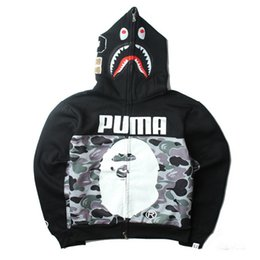 Camo Print Fashion Men NZ - Fashion Clothes High Quality Camo Jackets Shark Head Print Men \&#039 ;S Sweatshirt High Quality Casual Outdoor Men \&#039 ;S