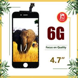Grau de um +++ lcd display touch digitador tela completa com quadro completo assembléia substituição para iphone 6 iphone6 preto branco