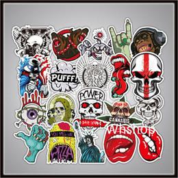 $enCountryForm.capitalKeyWord Australia - Waterproof Skull Skeleton Decal Vinyl Side Door Sticker For Mobile Phone Car Truck Window motorcycle helmet hopper biker Stickers Well Cut