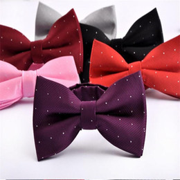 Men s suit accessories online shopping - man bow tie silver dot bowknot men s butterfly suit accessories neckwear for men spot black bowtie