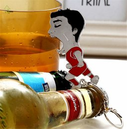 Wholesale Hot Luis Alberto Suarez Beer Bottle Opener Bar Tools Sue god bite teeth bottle opener World Cup bottle opener metal car keychain