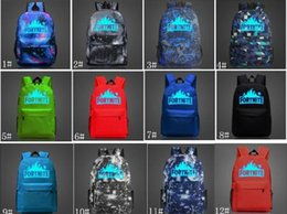12 Designs 20L Fortnite Battle Royale Sac D'école Sac À Dos Noctilucous Étudiant Sac À Bandoulière Lumineux Sacs À Dos En Plein Air Sacs on Sale