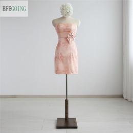 $enCountryForm.capitalKeyWord Australia - Real Photos Simple Sheath Sweetheart Lace Party Dresses Satin Sashes With Bow Prom Dresses Mini Short Bridesmaid Dress