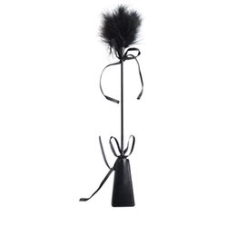 Spank leather online shopping - Feather Whip PU Leather Paddle Whip Spanking Paddle Flirting Toys Adult Games Fetish Body Massage Fetish Sex Toys For Couples