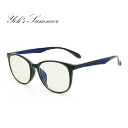 d653c50dc4 Yok s Summer Computer Gaming Anti Blue Eyeglasses Women Men TR90 Titanium  Oval Glasses Frame Optical Prescription Eyewear UN081