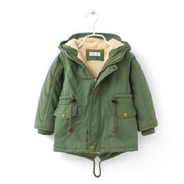 Fashion Jackets NZ - New Fleece Hooded Boy Jackets Thickness Winter Autumm Kids Coats Fashion Baby Jacket 8JK050