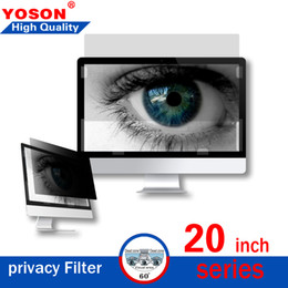 "Laptop Filter Australia - 20"" Series Widescreen Monitor Privacy Screen PET material (16:9,16:10,4:3) Desktops LCD Monitors Screen Protectors & Filters Free Shipping"