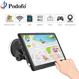 "Gps Hd Australia - Podofo 7"" HD Car GPS Navigation FM Bluetooth AVIN Win CE 6.0 Touch Screen Sat nav Truck gps navigators automobile with Free Maps"
