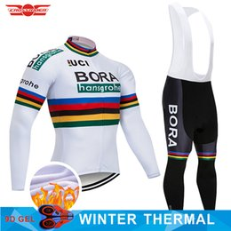 2018 Pro Team BORA Winter Thermal Fleece Cycling Jersey Bike Pants Set Mens  9D pads Ropa Ciclismo Bicycle Clothes Cycling Wear 5e6830a04