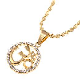 $enCountryForm.capitalKeyWord NZ - Hinduism Pendant Necklace Yoga Meditation Aum Om Ohm Sanskrit India Symbol Pendant Necklace