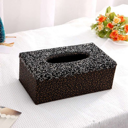 $enCountryForm.capitalKeyWord Australia - Elegant Home Ornament Living Room Tissue Box Luxury Bling Crystals Paper Towels Cover Case Case Office Tissue Box for Men Women
