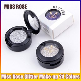 $enCountryForm.capitalKeyWord NZ - Miss Rose Brand Glitters Single Eyeshadow Diamond Rainbow Make Up Cosmetic Pressed Glitter Eye Shadow Palette 24 Colors Wholesale