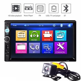 Touch Screen Dashboard Australia - Universal Car MP5 Player Car Radio MP5 Multimedia Player 7''HD Touch Screen Audio Stereo Bluetooth USB AUX Support Rear View + 720P Camera