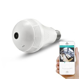 Wholesale Home Security Camera UK - 960P Wireless Panoramic IP Camera 1.3MP 360 Degree 3D VR Bulb Light FishEye WIFI Surveillance CCTV Home Security Mini Cam