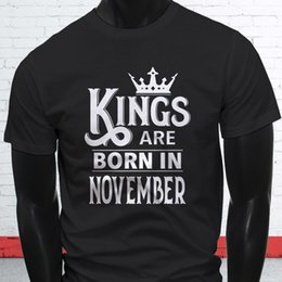 $enCountryForm.capitalKeyWord Canada - Work Shirts O-Neck Kings Are Born In November Scorpio Sagittarius Mens Black T-Shirt Short Sleeve Office Tee For Men