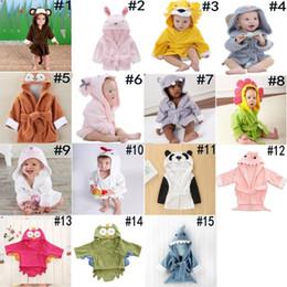 Hooded Animal Modeling Baby Bathrobe Cartoon Baby Bath Towel Character Kids  Bath Robe Bird Panda Monkey Bathrobe 15 Styles cb4198476