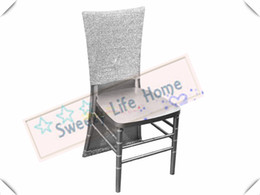 $enCountryForm.capitalKeyWord Australia - Nice Looking Shining Silver color Free shipping Nice Sequin chiavari chair covers Glitz Banquet chair covers Slub chair caps