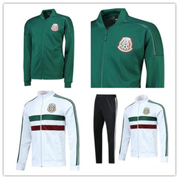 Chinese  Best quality 2018 world cup MEXICO white green Full zip SOCCER jacket CHICHARITO LOZANO DOS SANTOS HERRERA LAYUN Mexico football kit manufacturers