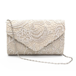 91ed12e0563a KEENICI Hollow Lace Clutch Bag New Lace Satin Evening Bags High-grade Silk  Party Bag Exquisite Day Clutches Crossbody Chain Gift Y1890401