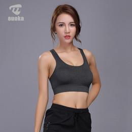 $enCountryForm.capitalKeyWord Canada - EUOKA Women Sports Bra Yoga Shirt with Padding Push Up Dry Quick Tank Tops For Running Fitness Gym Bras
