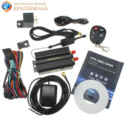 Car Remote Device Australia - Accessories GPS Trackers TK103B KA Car GPS Tracker Remote Control Auto Vehicle SMS   GSM   GPRSTracking Device with SOS alarm