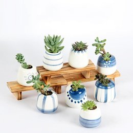 $enCountryForm.capitalKeyWord NZ - Fashion Ceramic Succulent Pots Hand Painted Mini Flower Pot For Home Office Desktop Decor Planters Factory Direct 3ys BB