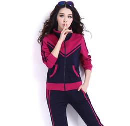 d7cf4fe79d2 Patchwork Color Style Tracksuit Women Fashion 2 Piece Set Women Plus Size  5xl Hoodies +Pants Casual Sporting Suits