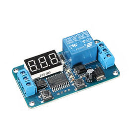 Chinese  New Electric Unit High quality DC 12V LED Display Digital Delay Timer Control Switch Module PLC Home Automation 6.5x3.5cm manufacturers