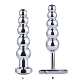 $enCountryForm.capitalKeyWord Australia - Stainless Steel Prostate Massage Butt Plug Heavy Anus Beads with 5 Balls Sex Toys for Men and Women Gay Metal Anal Plugs