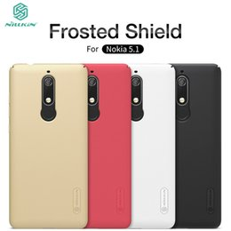 Shield Protector Cases Australia - Cell Phone Case For Nokia 5.1 Soft Tpu Silicone Case Cover NILLKIN Super Frosted Shield Back Cover With Free Screen Protector