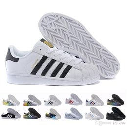 China Free Shipping Superstar White Black Pink Blue Gold Superstars 80s Pride Sneakers Super Star Women Men Sport Casual Shoes EU SZ36-45 cheap green gingham suppliers