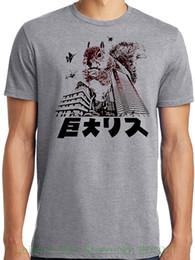Tall Tee Men Canada - Print Tee Shirt Men Short Sleeve Libertees Big And Tall King Size Funny Squirrelzilla Godzilla Parody T-shirt
