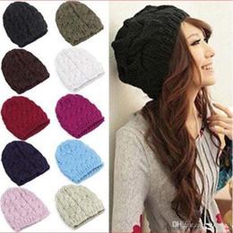 $enCountryForm.capitalKeyWord Canada - 2017 Hot sales Fashion Women Men Winter Warm Knitted Crochet Skull Beanie Hat Caps 8 Colors M059