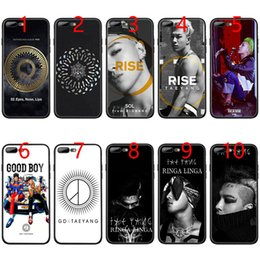 Iphone 6s Plus 5.5 Australia - GD X TAEYANG Kpop Soft Black TPU Phone Case for iPhone XS Max XR 6 6s 7 8 Plus 5 5s SE Cover