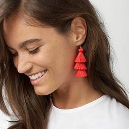 Cheap Brand Jewelry NZ - Best lady Fringed Cheap Statement Tassel Earrings Goof Quality Brand Hot Sale Fashion Women Drop Dangle Earrings Jewelry 5542