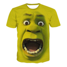 funny men t shirts UK - Shrek Shirt Funny T Shirts Hip Hop Clothing Short Sleeve Tshirt Streetwear 3d Print T Shirt Men Clothes 2018 Summer New