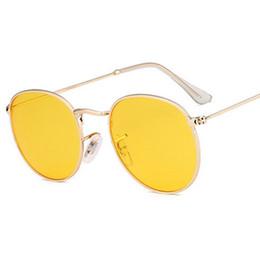 Mirror Tint Sunglasses NZ - SHELI Classic Women Round Sunglasses Brand Designer Vintage Men Green Tinted Lens Sun Glasses