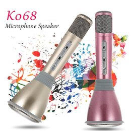 Player high quality online shopping - Newest K068 Wireless bluetooth handheld mini microphone with high quality Mini Karaoke Player KTV Singing Record for samsung Iphone