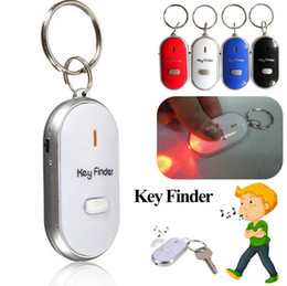 Discount alarms chain - LED Anti Lost Keys Finder Keys Chain Whistle Locator Find Alarm Tracker Flashing Beeping Remote Keyring 4 Colors OOA4790