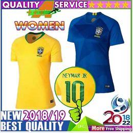 women brazil shirt 2018 world cup coutinho jesus neymar jr soccer jerseys oscar paulinho marcelo cas
