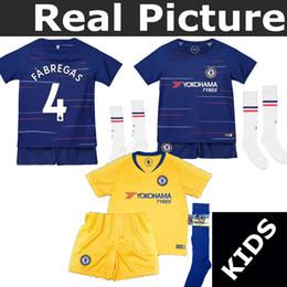 Top thailand HAZARD home away kids youth child jersey Fabregas 2019 KOVACIC GIROUD  KANTE RUBGY shirt 18 19 RUDIGER WILLIAN maillot camisetas 90d7bced9