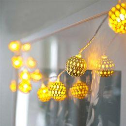 Luci LED String Globe, oro marocchino per camera da letto, tenda, patio, giardino fatato, casa, matrimonio, vacanza, albero di natale, partito (bianco caldo)