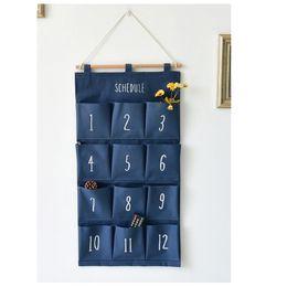$enCountryForm.capitalKeyWord Canada - Wall hanging organizer Door storage pockets 12 pockets Cotton wardrobe hanging bags Sundries storage box Closet organizing bag