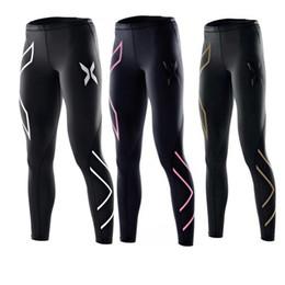 Vente en gros Femmes Pantalons De Yoga Maigre Courir Collants Mi Taille Fitness Entraînement Leggings 2 XU Marque Femmes Pantalon De Jogging Gym Vêtements