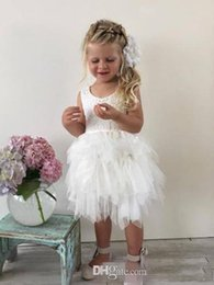 $enCountryForm.capitalKeyWord NZ - cheap toddler lace tulle flower girls' dresses knee-length A-line tiered jewel backless lovely dress for wedding first cummunion