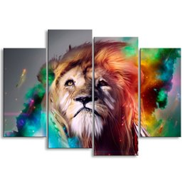$enCountryForm.capitalKeyWord Australia - painting & calligraphy print lion canvas poster wall art living room restaurant Bedroom Decorative paintings SZ4-007
