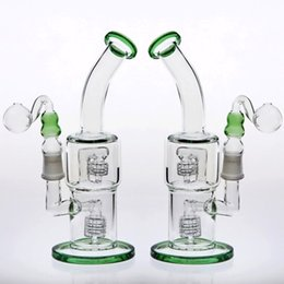 $enCountryForm.capitalKeyWord NZ - Green Glass Water Pipes Joint 18.8mm 24cm Double Birdcage Percolators Oil Rigs Bongs Water Pipes Beaker Cheap Glass Bongs in stock Hookahs